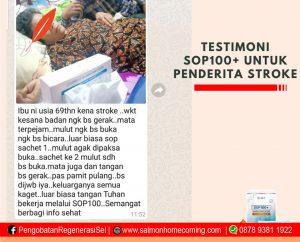 testimoni sop100+ untuk stroke