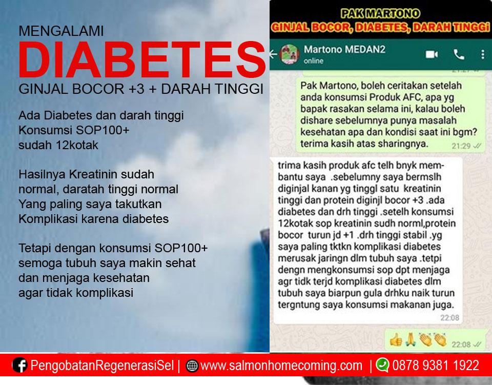 Testimoni SOP 100+ untuk Diabetes