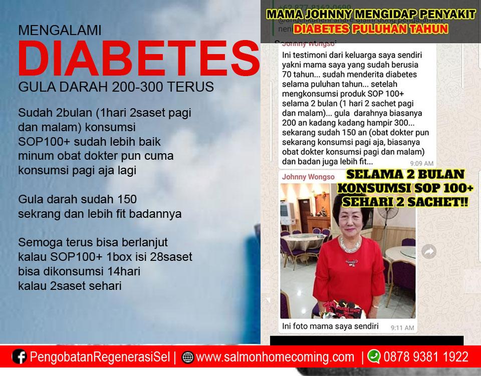 testimoni diabetes sembuh dengan sop100+