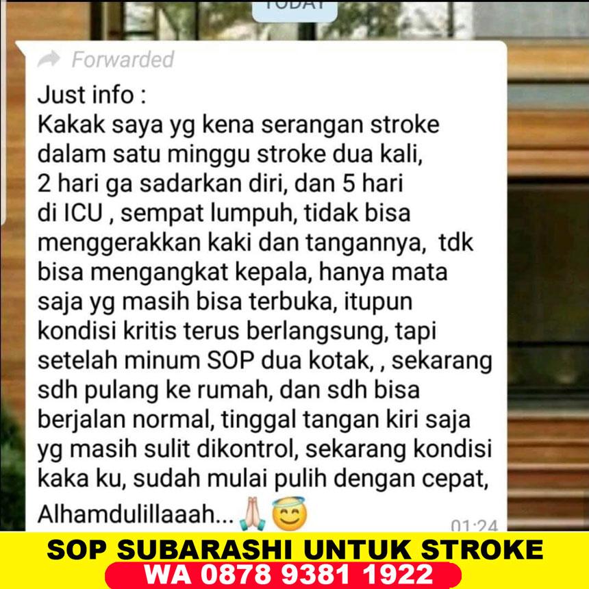 Manfaat SOP Subarashi untuk Stroke