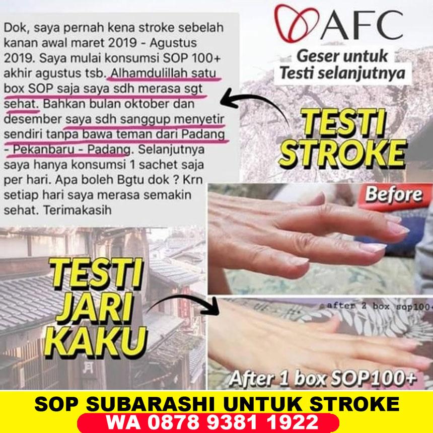Testimoni SOP Subarashi untuk Stroke