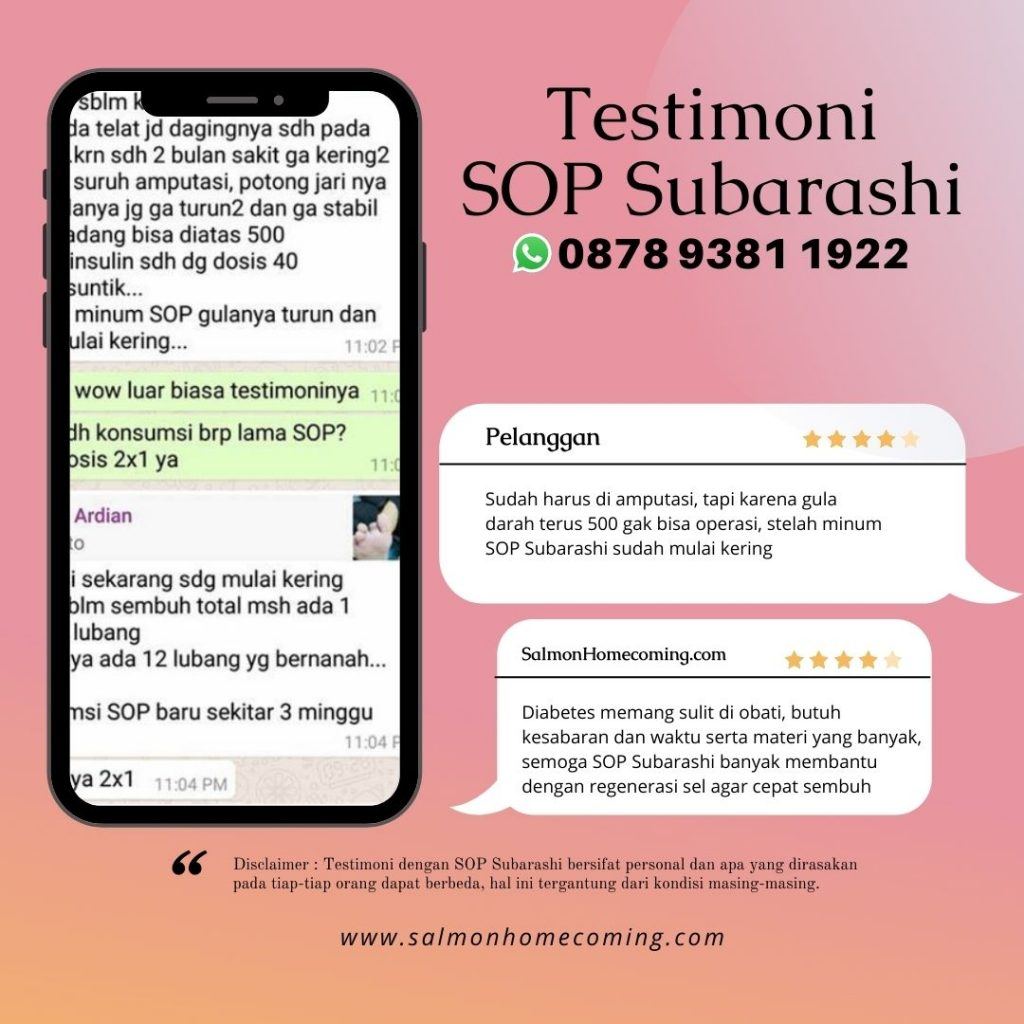 Testimoni SOP Subarashi untuk Diabetes